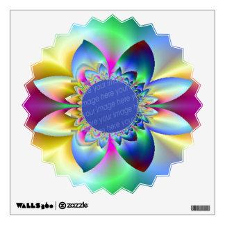 Fractal Rainbow Daisy Add Your Own Photo Decal
