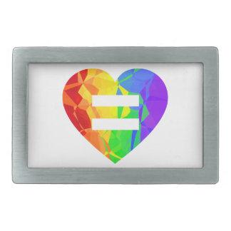 Fractal Rainbow Heart Marriage Equality Buckle Belt Buckle
