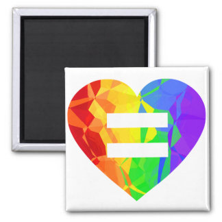 Fractal Rainbow Heart Marriage Equality Magnet