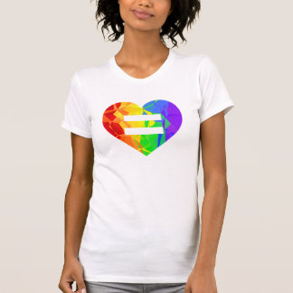 Fractal Rainbow Heart Marriage Equality Shirt