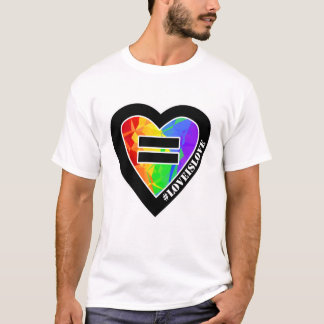 Fractal Rainbow Heart Marriage Equality T-Shirt