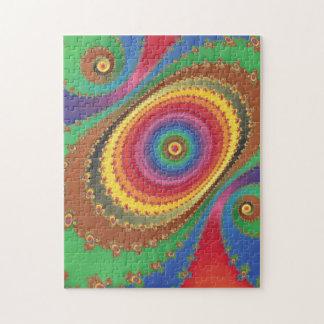 Fractal rainbow jigsaw puzzle