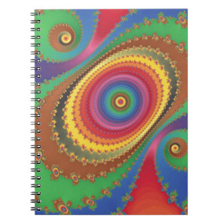 Fractal rainbow spiral notebook