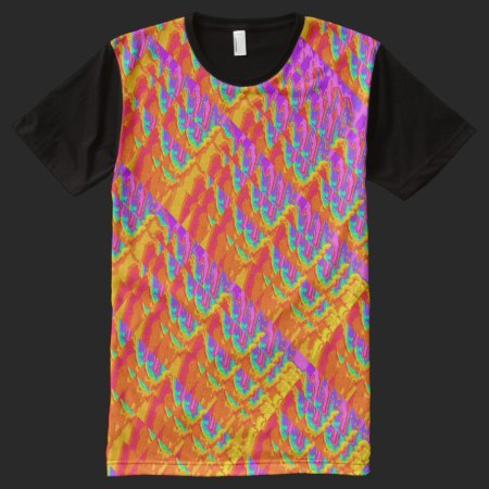 Fractal Rainbow Splash All-Over Print T-shirt