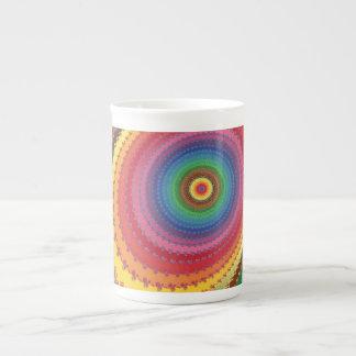 Fractal rainbow tea cup