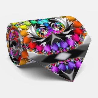 Fractal Rainbow Touch Neck Tie