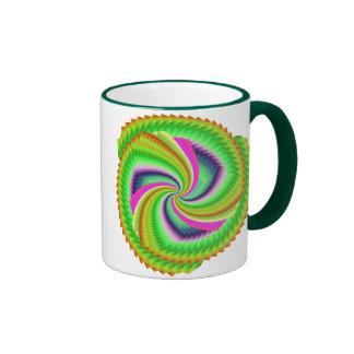 Fractal, Random, pretty, colourful, fuzzy windmill Coffee Mugs