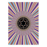 Fractal rayado púrpura del resplandor solar plantillas de tarjetas de visita