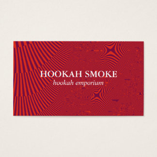 Fractal Red Artistic Business Card