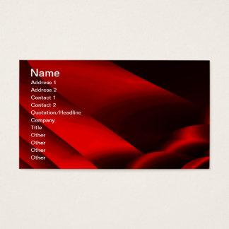 Fractal Red Black Satin Ribbons  Business Card