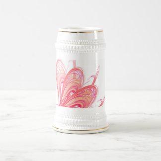 Fractal Red Flow Beer Stein
