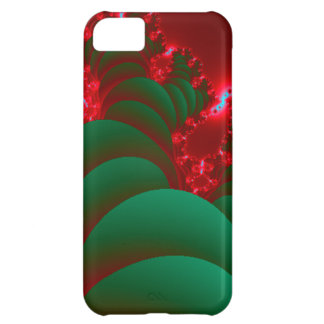 Fractal Red Green Space Christmas tree Case For iPhone 5C