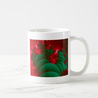 Fractal Red Green Space Christmas tree Mug