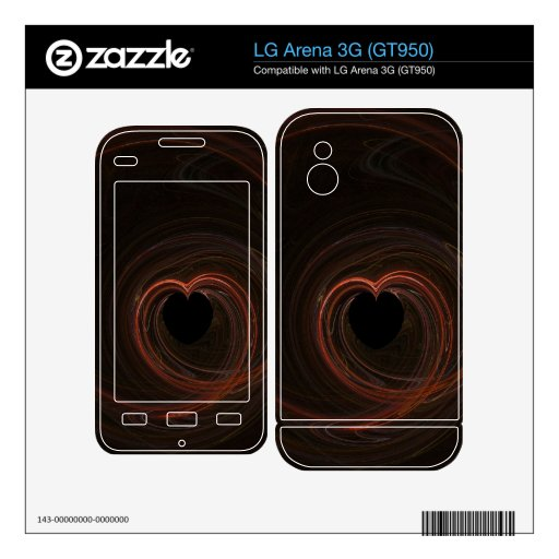 Fractal - Red Heart Decals For LG Arena 3G
