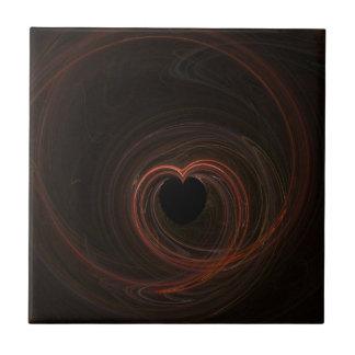 Fractal - Red Heart Tile