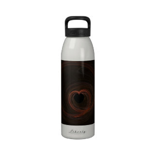 Fractal - Red Heart Drinking Bottle