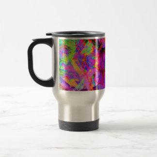 Fractal Red Psy Coffee Travel Mug