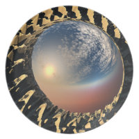 Fractal Reflections Party Plates