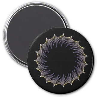 Fractal Ring - Thorns 3 Inch Round Magnet