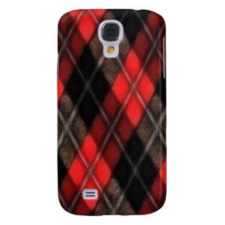 Fractal rojo de Argyle Funda Para Galaxy S4