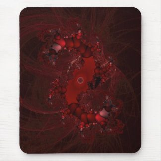 fractal rojo espiral alfombrilla de ratón