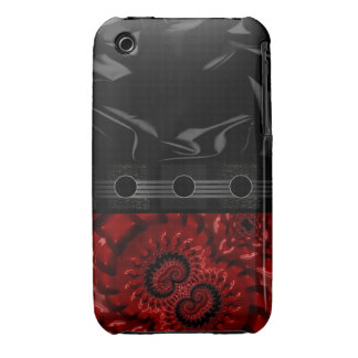 Fractal rojo hermoso iPhone 3 Case-Mate protector