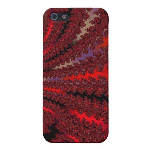 Fractal rojo rojo Maccessories iPhone 5 Carcasas