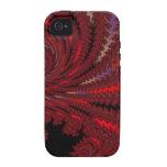 Fractal rojo rojo Maccessories Vibe iPhone 4 Funda