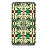 fractal rojo verde del día de fiesta iPod Case-Mate cárcasa
