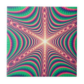 fractal-rosado azulejo cuadrado pequeño
