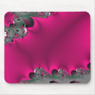 fractal rosado de la flor alfombrillas de ratones