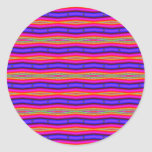 fractal rosado de la raya azul etiquetas redondas