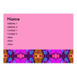 fractal rosado de las cintas plantilla de tarjeta personal
