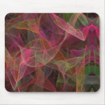 Fractal rosado, verde y negro Mousepad