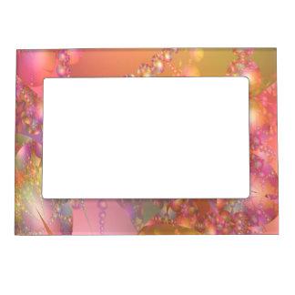 Fractal rosado y anaranjado de la burbuja marcos magneticos para fotos