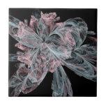 Fractal rosado y azul teja