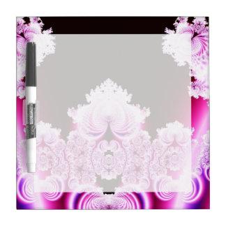 Fractal rosado y púrpura bonito complejo pizarras blancas de calidad