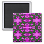 fractal rosado y verde imanes de nevera