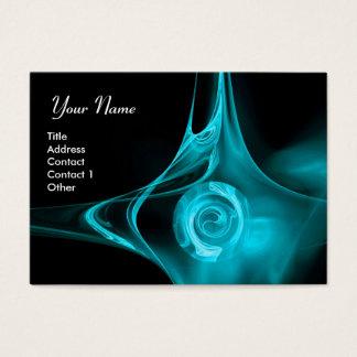 FRACTAL ROSE 1 bright blue black Business Card