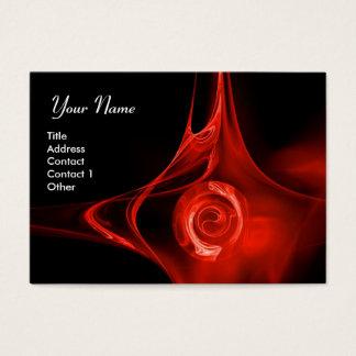 FRACTAL ROSE 1 bright red black Business Card