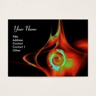 FRACTAL ROSE 1 bright red blue green black Business Card