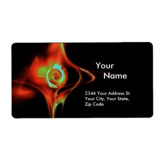 FRACTAL ROSE 1 Red Green Blue Turquase Black Label