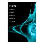 FRACTAL ROSE 2 bright blue Large Business Card
