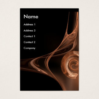 FRACTAL ROSE 2 bright brown black Business Card