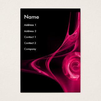 FRACTAL ROSE 2 bright pink black Business Card