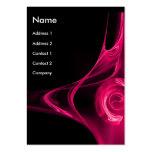 FRACTAL ROSE 2 bright pink black Large Business Card