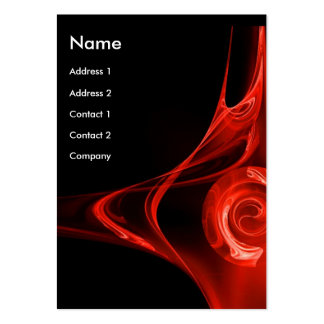 FRACTAL ROSE 2 bright red Business Cards