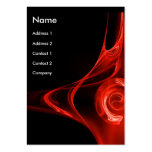 FRACTAL ROSE 2, bright red Large Business Cards (Pack Of 100)