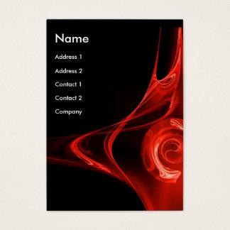 FRACTAL ROSE 2 - red -blue Business Card