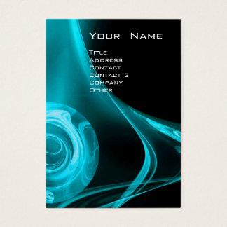 FRACTAL ROSE 3 bright  blue Business Card